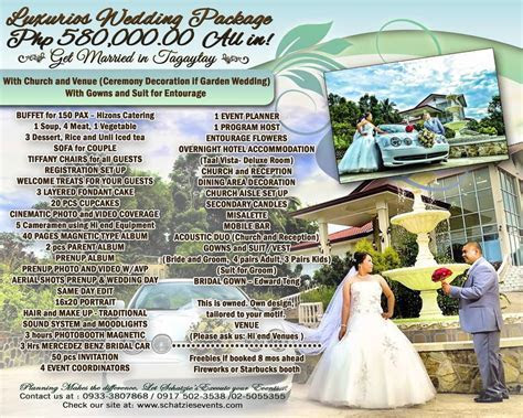 Tagaytay wedding package   Wedding Package Philippines