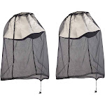 Juvale Mosquito Head Net - 2-Pack Face Mesh Masks, Anti-Mosquito Head Covers, for Outdoor Sport Hiking Fishing Lovers, Protect from Insect, bug, Bee,