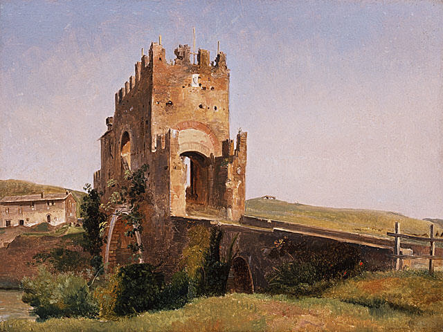 File:View of the Ponte Nomentano-1837-Pierre-Nicolas Brisset.jpg