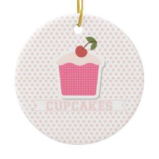 Cupcakes & Polka Dots Ornament