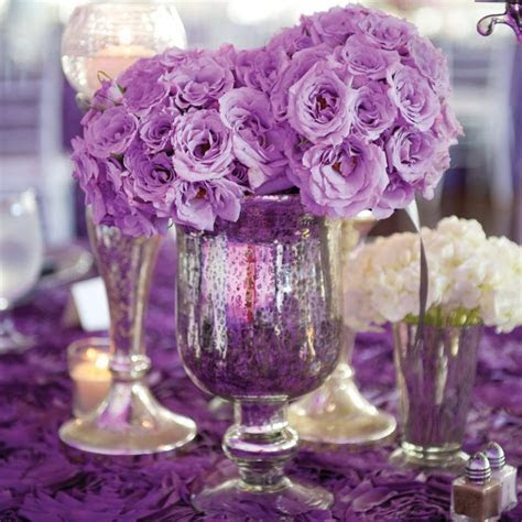 Purple Wedding Table Decorations   Romantic Decoration
