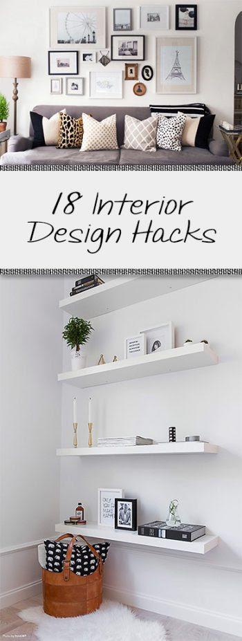 18 Interior Design Hacks • Organization Junkie