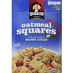 Quaker Oatmeal Squares Crunchy Cereal - 2 pack, 29 oz each