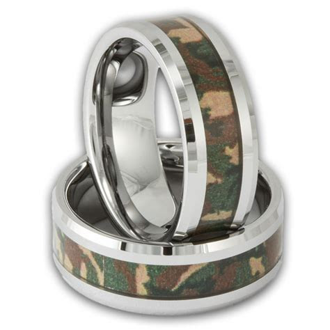 Men's Tungsten Woodland Camouflage Wedding Ring   Shop