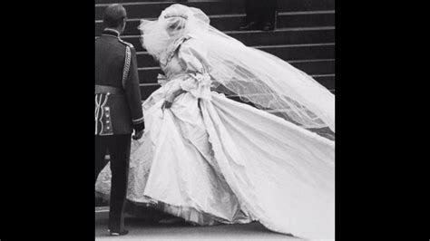 The Story Behind Princess Diana's Wedding Dress   YouTube