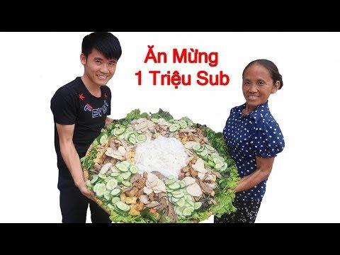 Bà Tân Vlog - Làm Nia Bún Đậu Mắm Tôm Khổng Lồ Ăn Mừng 1 Triệu Subscribe