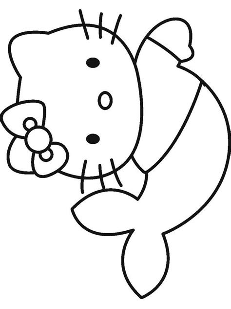 Hello Kitty Mermaid Coloring Pages Free Print - Learn to Color