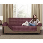Maytex Mills Buffalo Check Box Cushion Loveseat Slipcover Set, Product Weight: 2.65 Pounds (New without Tags)