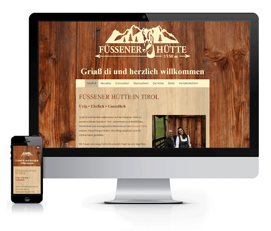 WEBSITE Füssener Hütte
