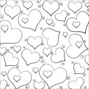 Dibujos De Corazones Para Colorear Páginas Para Imprimir Y