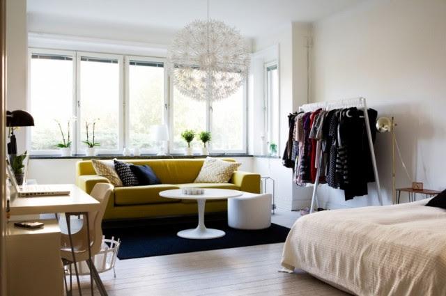 kleine wohnung modern und funktionell einrichten_platzsparende, Wohnzimmer dekoo