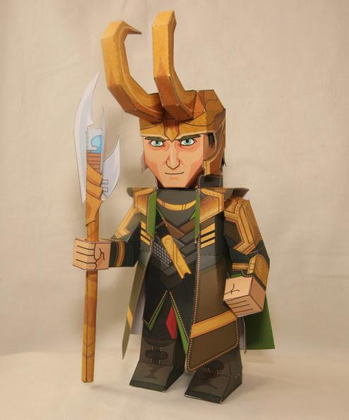 The Avengers Loki Papercraft