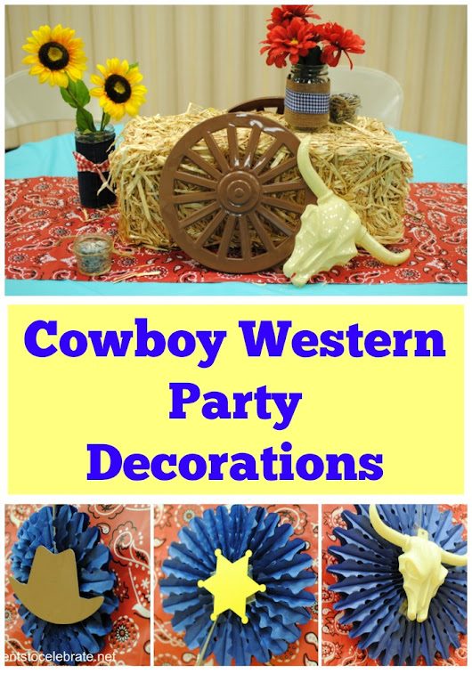 Cowboy Western Party Decorations - events to CELEBRATE!