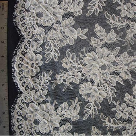 French Alencon Lace   Evelyn   High Fashion Fabrics