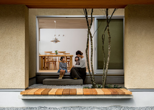 Hearth Architects designs Japanese house with roofed garden