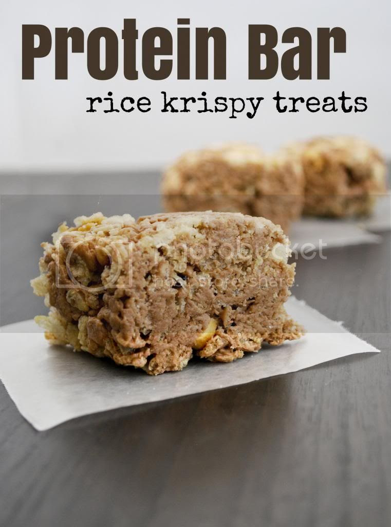 Mallow and Co: Protein Bar Rice Krispy Treats