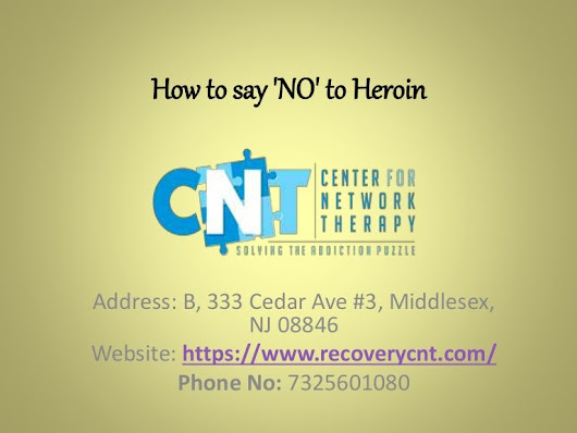 How to say 'no' to heroin