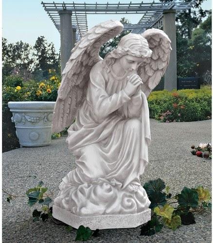 The Praying Basilica Angel Statue - modern - garden sculptures ...