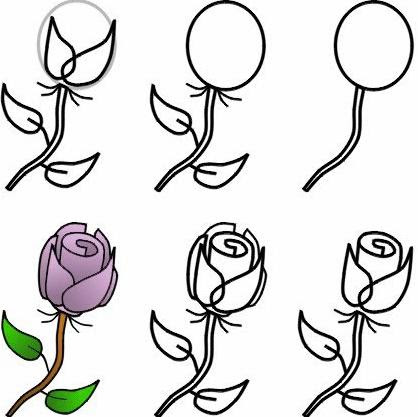 Cómo Dibujar Un Ramo De Rosas Lápiz Y Acuarela