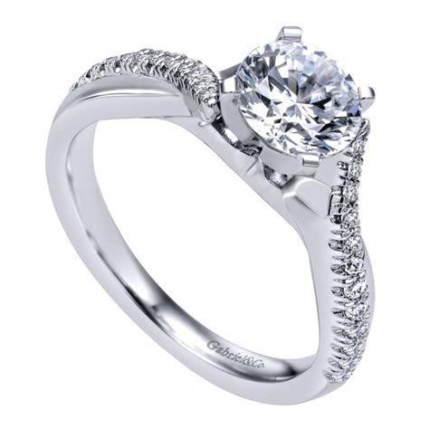 Gabriel & Co. Engagement Rings Crossover .19ctw Diamonds