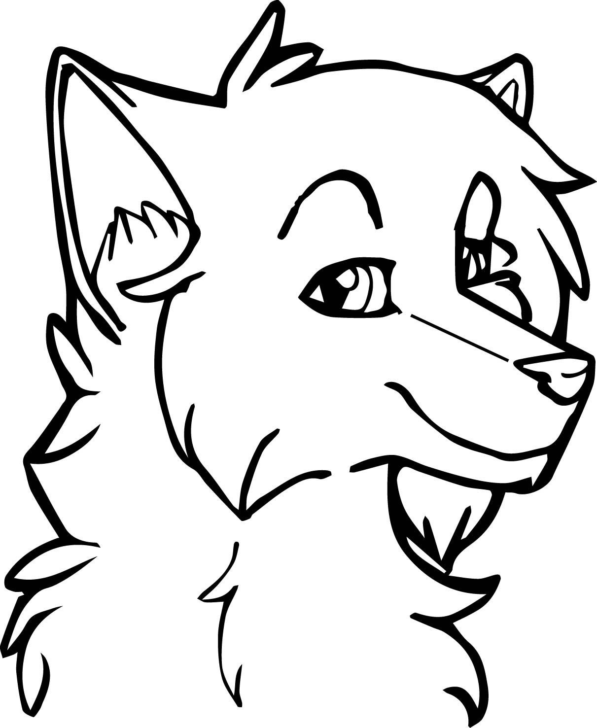 Wolf Face Coloring Pages at GetDrawings | Free download