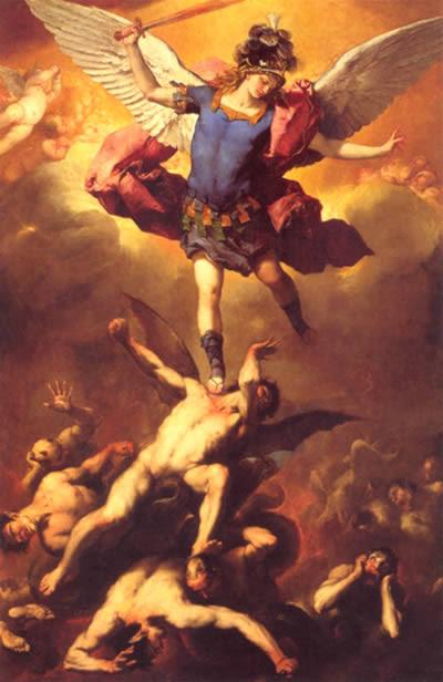 Caída de los ángeles rebeldes de Luca Giordano