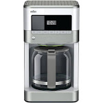 Braun BrewSense KF6050 WH 12-Cup Coffee Maker - Stainless Steel/White