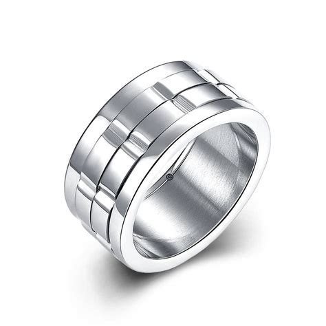 15 Inspirations of Men's Spinning Wedding Bands