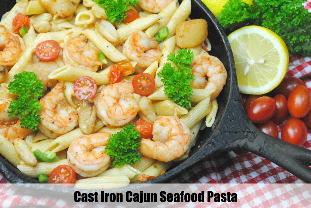 Cast Iron Cajun Seafood Pasta-2