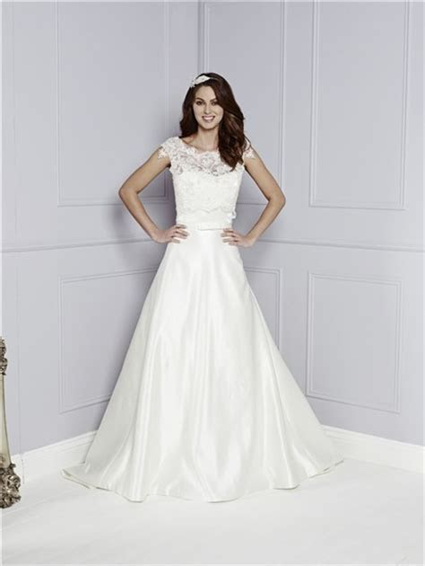 Simple A Line Sweetheart Satin Wedding Dress With Lace