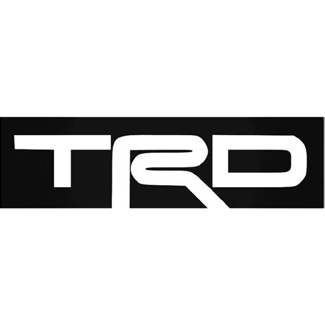 trd logo vinyl decal sticker aftermarket decals vinyl