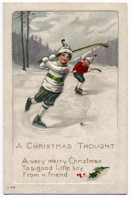 Hockey Christmas card, Hockey Christmas card