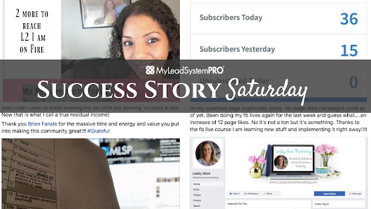 "[Success Story Saturday] ""The First Time EVER That I Have Had a $1000 Dollar Day...IN MY WHOLE LIFE."" • My Lead System PRO - MyLeadSystemPRO"