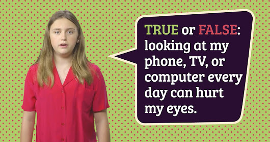 Online videos by National Eye Institute teach kids about their eyes.