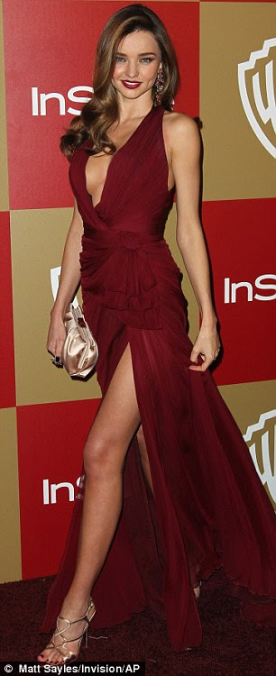 Miranda Kerr's red, Grecian-inspired Zuhair Murad gown was not a dress but a mere hanky