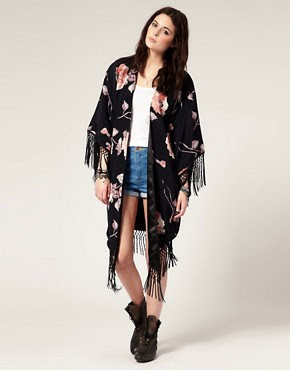 Image 1 ofAmerican Gold  Shes A Kind Hearted Woman…Studies Evil  Floral Fringed Kimono