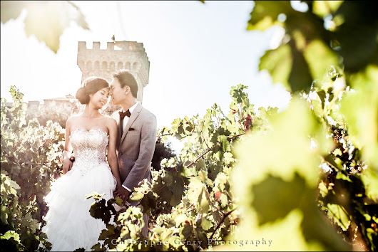 Pre-Wedding Photography at Castello di Amorosa and V.Sattui Wineries in The Napa Valley {Yuki + Matt} | Christophe Genty Photography Blog