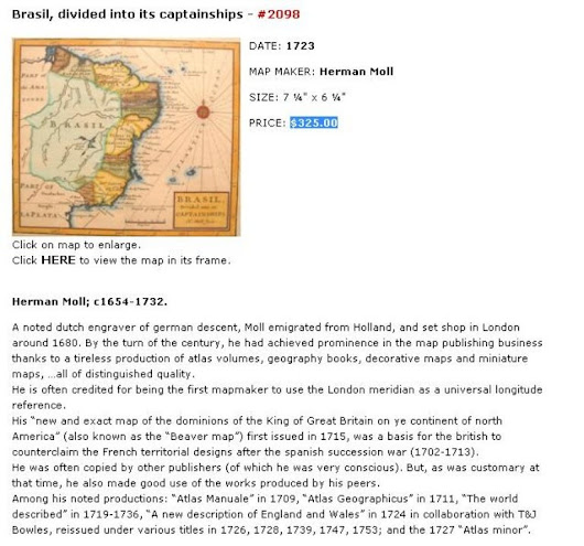 Brasil, divided into its captainships - PRICE: $325.00