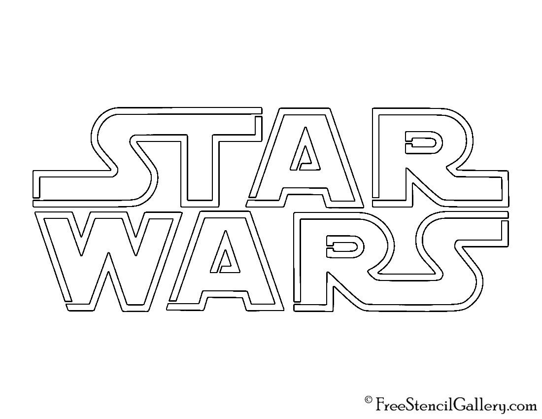 Star Wars Logo Stencil Free Stencil Gallery