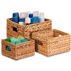 Honey Can Do 3-piece Woven Nesting Basket Set, Brown