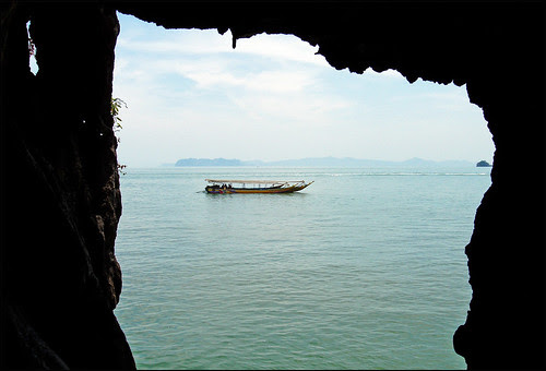 View through cave at Khao Pingan