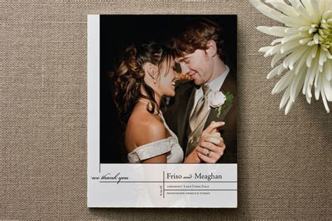 Thank You Wedding Cards   Rustic Wedding Chic