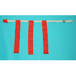 Everrich EVC-0036 Flag Belt - Adjustable Rip - 26-38 Inch Waist - Set of 1 Belt 3 Flags with Clip
