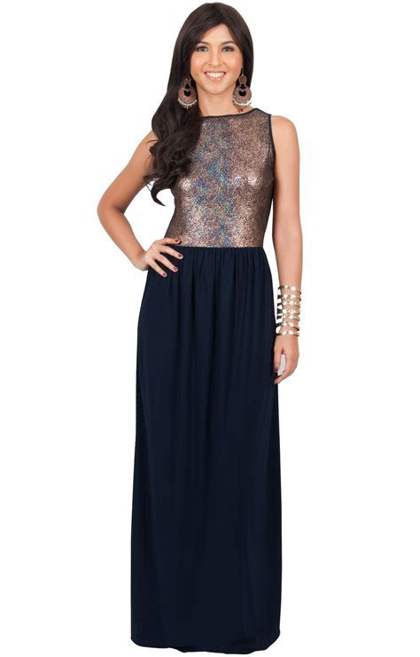 KOH KOH Plus Size Womens Long Sleeveless Cocktail Evening