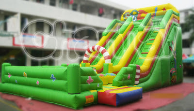 Circus Obstacles Inflatable Slide - Channal Inflatables