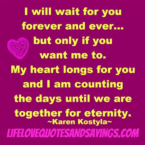I Want You Forever Quotes