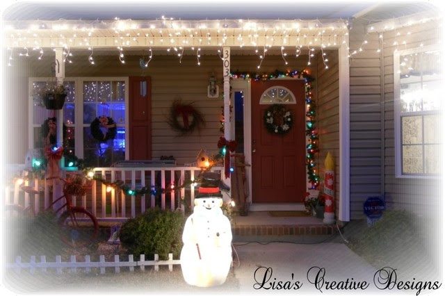 Cozy Cottage Christmas Porch  Eclectic  Porch  raleigh  by Lisa