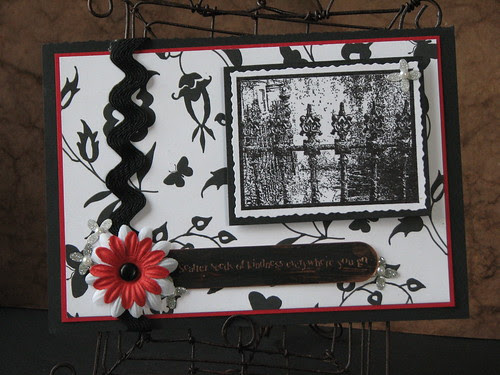 Ink Stained Roni Stamps - Gothic Ironwork Fence 001