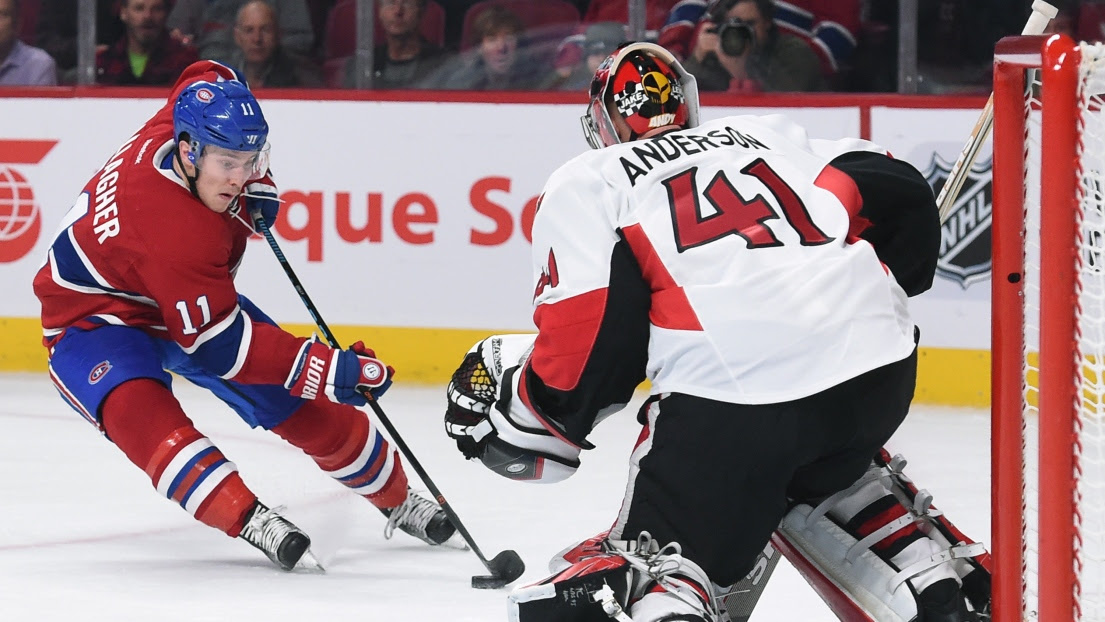 Brendan Gallagher et Craig Anderson