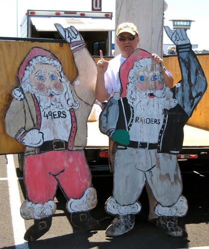 49er's Santa or Raiders Santa?